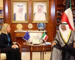 L'Alto rappresentante dell'Unione Europea, Federica Mogherini, ha inaugurato una nuova delegazione in Kuwait